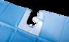 Immagine di Telo Sterile / Scollo adesivo a U - 100x150 cm - 50 pz