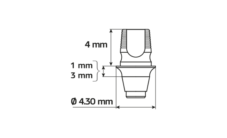 Immagine di ACS con ingaggio Ø4.30 / H3