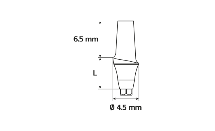 Immagine di Abutment anatomico concavo Ø4.5 / H1
