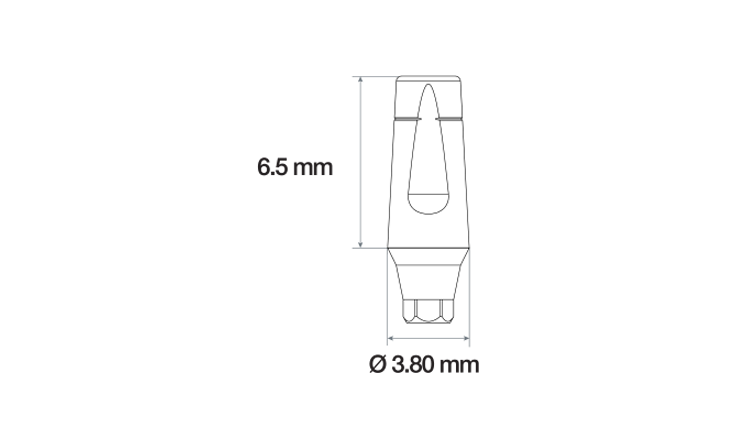 Immagine di Abutment anatomico concavo lama di coltello Ø3.80