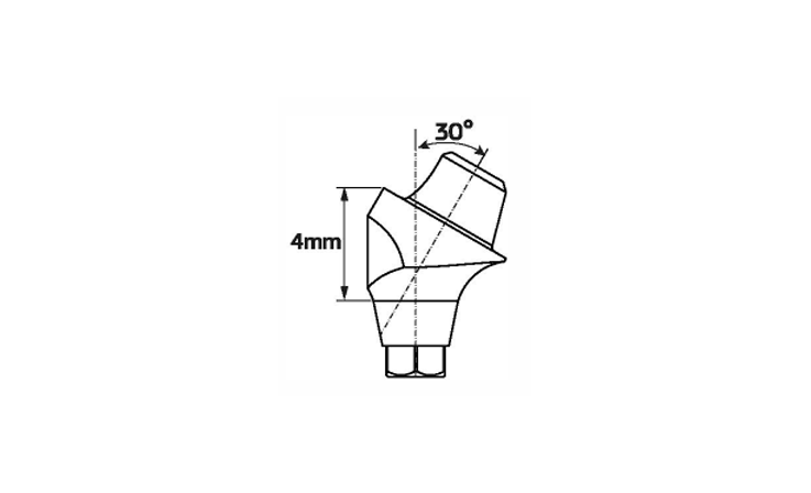 Immagine di Multi-Unit abutment angolato 30°/ H4