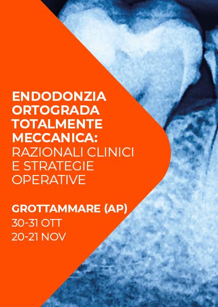 """Immagine di Corso Endo """"Endodonzia ortograda totalmente meccanica: razionali clinici e strategie operative"""""""