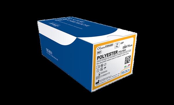 Immagine di POLYESTER-Polybio / Dorso tagliente 1/2 - 17 mm - Calibro 5/0