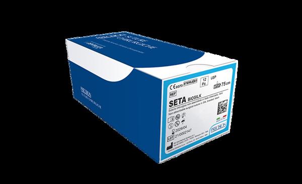 Immagine di SETA-Biosilk / Dorso tagliente 3/8 - 17 mm - Calibro 5/0